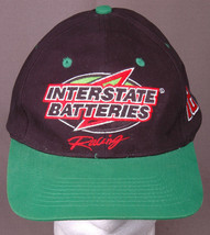 Interstate Batteries Racing Hat-Snapback Cap-Black Green-Embroidered-Aut... - $23.69