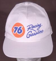 76 Racing Gasoline Hat-Snapback-White-Auto-VTG-Trucker Garage Baseball Cap - $31.64