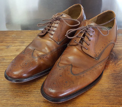 Cole Haan Wingtip Shoes-9 M-Brown Leather-Nice-Nike Air Heel-Leather Sole - $205.69