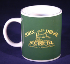 John Deere Mug, Moline Illinois, Leaping Deer Logo, Double Sided, Green ... - $18.69