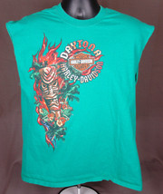 Harley-Davidson Daytona-Bruce Rossmeyer's Sleevless Shirt-Green-XL-Cotto... - $19.62