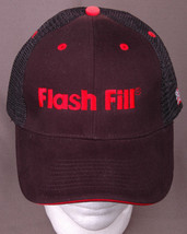 Flash Fill Hat-Mesh-Snapback-Trucker Cap-Black Red-Embroidered USA Flag-New - $21.31