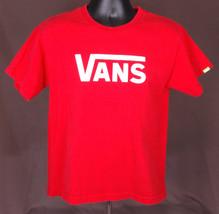 VANS-T Shirt-Red-Boys XL-Skateboard Street Park Jump Slide Glide Punk Su... - $17.75
