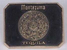 Montezuma Tequila Belt Buckle, Brass, Vintage, Retro, Super Cool, Black - $26.00