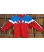 NBA Sweatshirt-Nike-M 12/14-Red White Blue-Pockets-Embroidered Logo-Bask... - $24.06