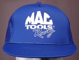 Mac Tools Racing Trucker Hat-Rope Bill-Blue-Mesh-Vtg-Hipster Automotive New - $24.46