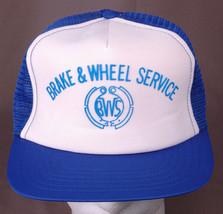 Brake & Wheel Service Hat-Blue-Mesh Back-VTG-Automotive-Trucker-Hipster-... - $19.69