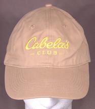 Cabela's Club Hat,Baseball Cap-Tan-Adjustable Strap-Yellow Logo-Hunting ... - $20.51