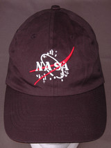 Nasa Hat-Velcro-Black-Baseball Cap-Embroidered-Outer Space-Kids-Small - $21.31