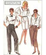 Simplicity 9166 Misses High Waist Pants, Shorts and Slim Skirt Sz 6-10... - $5.50