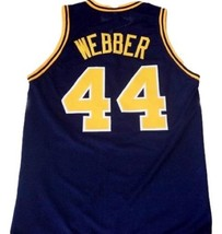 Chris Webber Country Day Basketball Jersey Sewn Navy Blue Any Size image 2