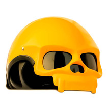 Masei 419 Glossy Yellow Skull Motorcycle Chopper Helmet - $499.00