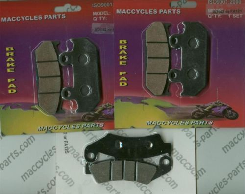 Honda Disc Brake Pads VFR400R 1987-1990 & 1992 Front & Rear (3 sets)