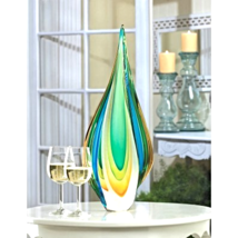 Cool Flame Art Glass Statue - $65.40