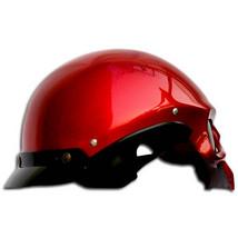 Masei 419 Glossy Red Skull Motorcycle Chopper Helmet image 4
