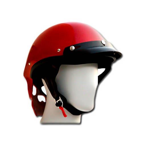 Masei 419 Glossy Red Skull Motorcycle Chopper Helmet image 5