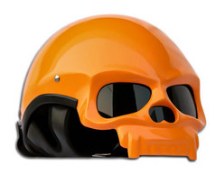 Masei 419 Glossy Orange Skull Motorcycle Chopper Helmet - $499.00