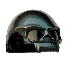 Masei 419 Glossy Gray Skull Motorcycle Chopper Helmet - $499.00