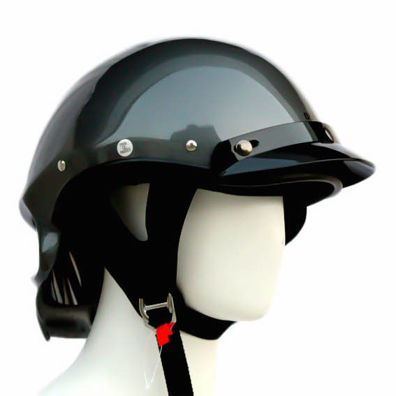 Masei 419 Glossy Gray Skull Motorcycle Chopper Helmet image 6