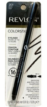 Revlon ColorStay Eyeliner Crayon Black 201 - 0.01 oz Smudged SharpnerNew Sealed - $8.09