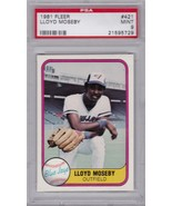 1981 FLEER  LLOYD MOSEBY #421 TORONTO BLUE JAYS PSA 9 MINT - $5.36