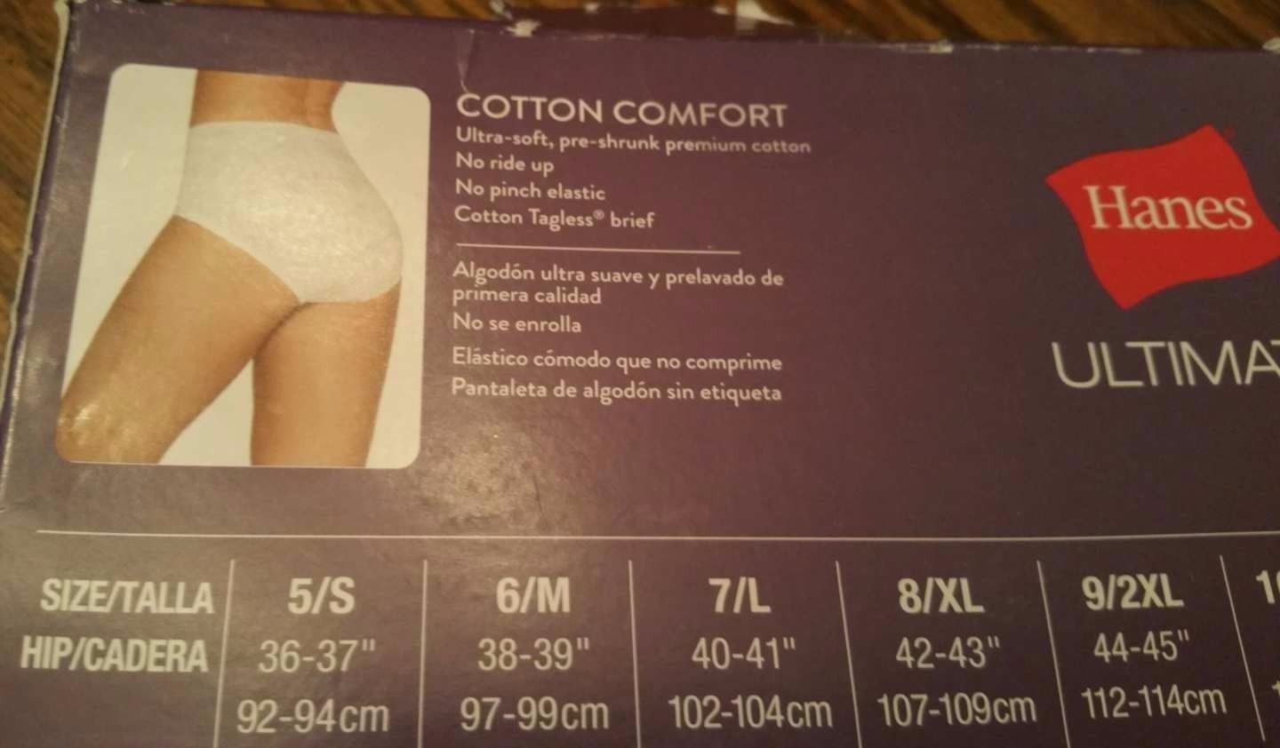 55092a3b1ee3 Hanes Ultimate Cotton Comfort Panties 9/2XL 3Pk Bikini OR 4PK Brief Tagless  New