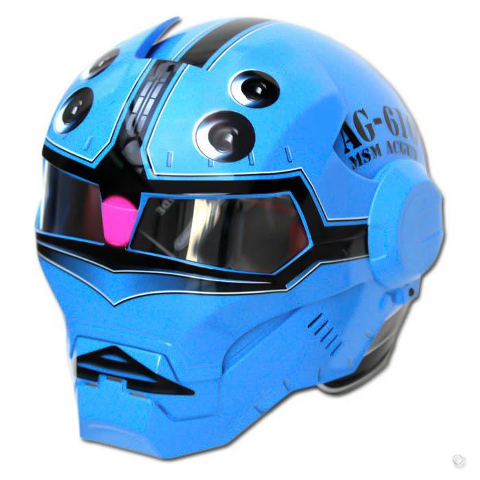 Masei 610 Blue Acguy Motorcycle Helmet