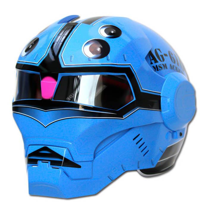 Masei 610 Blue Acguy Motorcycle Helmet image 2