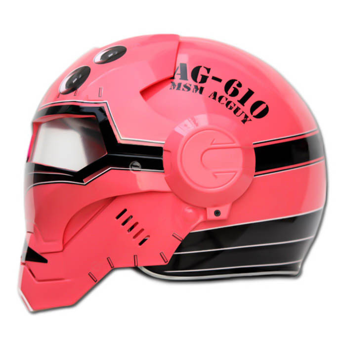 Masei 610 Red Acguy Motorcycle Helmet image 2