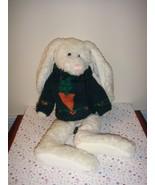 Boyds Bears Bunny Rabbit Wearing Green Sweater - $11.99