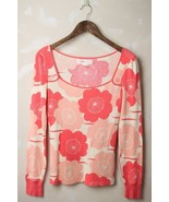 Anthropologie Lilka Pink Floral Waffle Knit The... - $28.95