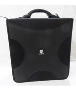 Lonkyo CD DVD holder storage binder 256 sleeves carrying case fabric black - $29.69