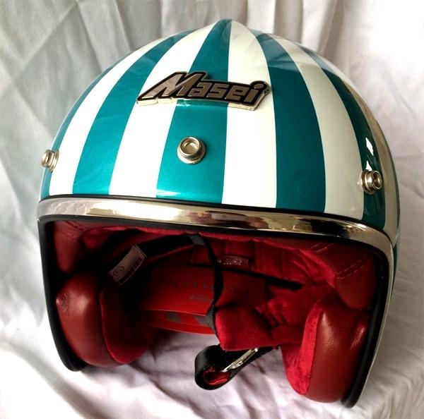 Masei 610 Ruby Glossy Green Motorcycle Helmet image 4