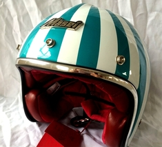 Masei 610 Ruby Glossy Green Motorcycle Helmet image 5