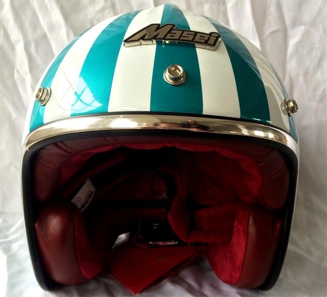 Masei 610 Ruby Glossy Green Motorcycle Helmet image 3