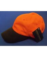 Mens NWT Outdoor Cap Waxed Canvas Blaze Orange Black Brim Ball Cap Adult - $6.95