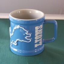 Detroit Lions 3-D Blue And Gray Coffee Mug 2002 VGC - $9.00