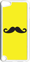Plain Yellow and Black Mustache on iPod Touch 5th Gen 5G TPU Case Cover - $9.95