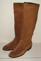 NEWPORT NEWS Women's Brown Suede Leather Fashion Boots Shoes 7.5 B M NICE! - $37.99
