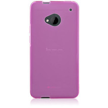 Naztech TPU Polycarbonate Case Cover for HTC / M7 Snap On Rubber, Pink - $3.99