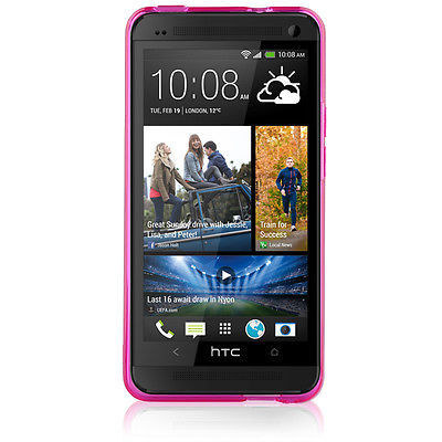 Naztech TPU Polycarbonate Case Cover for HTC / M7 Snap On Rubber, Pink
