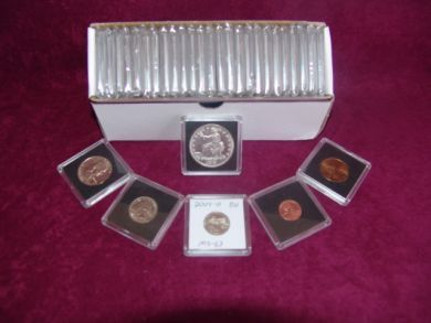"2"" x 2""  Coin Collecting Display Slabs for  Lg. Dollars (QTY = 10 Coin Holders)"