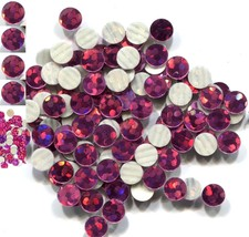 HOLOGRAM SPANGLES Hot Fix  ROSE  Iron on  10mm 1 gross - $5.24