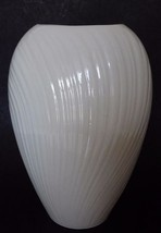 Lenox MIRAGE Collection Vase Medium Made in USA Ribbed Ivory White - $19.75