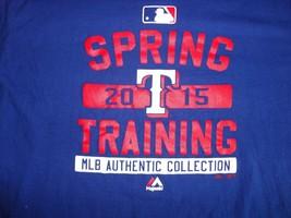 Blue Texas Rangers 2015 Training Camp Majestic XL MLB Baseball T shirt EXCELLENT - $19.64