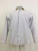 Polo Men's Ralph Lauren Button Shirt 16 Striped Long Sleeve Classic Fit - $15.84