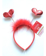Valentine's'S Day Love Party Club Headband Soft Touch Red Heart HeadBopper - $8.58