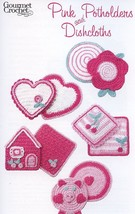 Pink Potholders and Dishcloths Gourmet Crochet Pattern Booklet NEW - $8.07