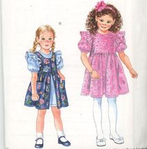 Simplicity 9308 Childs Dress and Pinafore Size 2,3,4,5,6,6x with Hair Ac... - $2.00