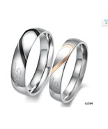1/2 Heart Matching Wedding Band Set Free Shipping - $50.00